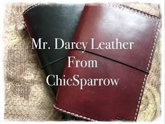 Mr. Darcy Leather from ChicSparrow | Carie Harling - Dispatches From The Frat House