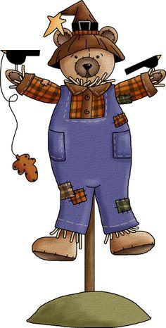 SCARECROW TEDDY BEAR *