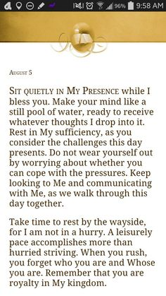 From Jesus Calling by Sarah Young