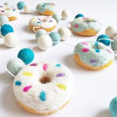 Donut Garland Mint $44.95  #sweetcreations #baby #toddlers #kids #decor