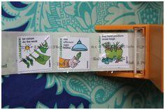 Pretend Sticker Postage Stamps