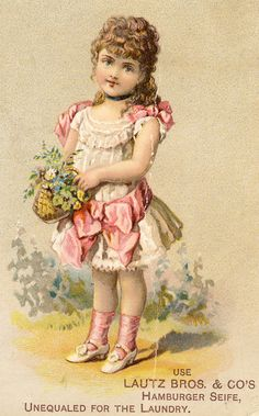 Free Download: Sweet Victorian Trade Card from Besottment.com #ephemera