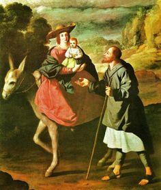 1598 Francisco de Zurbarán (Spanish painter, 1598–1664) Flight into Egypt