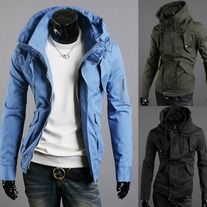 The item is a casual coat for men. The material is very comfortable. And the design is very fashion. It is absoulately can show your personal charm. A perfect option for you.  Features: * Extremely fashion, and eye-catching, * Comfortable to wear and touch * Material:cotton ,dacron,polyester...