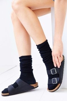 Ribbed Slouchy Crew Sock
