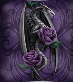 hmmm, a dragon and roses