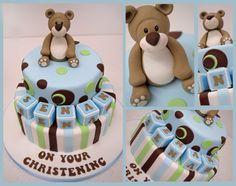 cute boys Christening Cake by Sweet Temptations Cakes - by sweetlou @ CakesDecor.com - cake decorating website