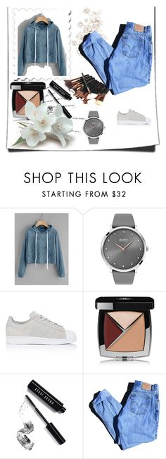 """""""Bez naslova #3"""" by medinicab ❤ liked on Polyvore featuring BOSS Black, adidas, Katie, Chanel, Bobbi Brown Cosmetics and Levi's"""