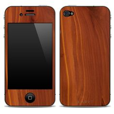 real laser cut wood iPhone case