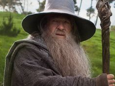 Gandalf the Grey - Ian McKellen in The Hobbit. Lord Of Rings, Fellowship Of The Ring, Thranduil, Tolkien, Middle Earth Movie, Gandalf Staff, The Hobbit Characters, John Howe, O Hobbit