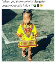 Cute African baby wearing a Dashiki 💜 African Attire, African Wear, African Dress, African Fashion, African Style, African Babies, African Children, African Women, Moda Afro