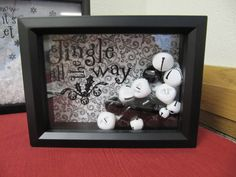 Jingle all the way in black & white...goes with any decor!