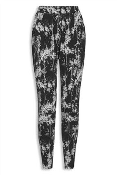 Mono Floral Jersey Tapered Trousers