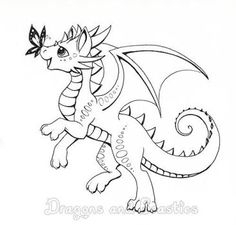 Baby Dragon Coloring Page Dragons To Color Pinterest Dragon