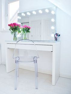 Merveilleux Makeup Storage Ideas From Ikea   The Ikea Malm Makeup Vanity With Mirror Is  A Makeup Vanity With Lights   The Perfect Dressing Table For Makeup Storage