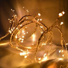 Silver LED Fairy Light Garland, 8.5 Foot, Battery Operated, Warm White