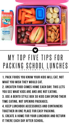 Packing Lunches Kids Will Eat