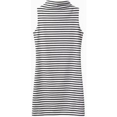 High Neck Sleeveless Dress in Stripe (€18) ❤ liked on Polyvore featuring dresses, vestidos, choies, clothes - dresses, white sleeveless dress, high neck sleeveless dress, striped dresses, striped sleeveless dress and white day dress