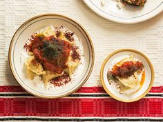Ana Sortun's Turkish Lamb Dumplings with Yogurt and Brown Butter Tomato Sauce (Manti)   SAVEUR