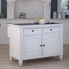 Kitchen island  Home Styles Bermuda Kitchen Island with White Finish-5543-94 at The Home Depot
