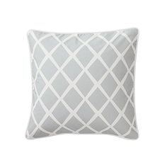 Fog Diamond Pillow  from Serena & Lily