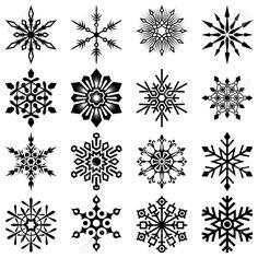 Vector Snowflake Set Royalty Free Cliparts, Vectors, And Stock Illustration. Image Set Royalty Free Cliparts, Vectors, And Stock Illustration. Winter Tattoo, Snow Tattoo, Snow Flake Tattoo, Mini Tattoos, Body Art Tattoos, Small Tattoos, Tatoos, Christmas Tattoo, Christmas Art