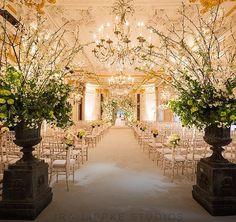 Wedding Ceremony #stregisnewyork #Versailles #Ballroom #rennyandreed