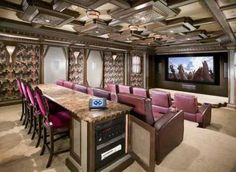 Theater room  like the 'bar' behind the couch