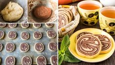 Sušenky ke kávě nebo čaji. Vanilkové a kakaové těsto křupe na jazyku.