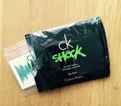 """CK Shock temporary """"scent tattoos"""". These came with a 100 ml spray that I bought in Tokyo. Have never seen these anywhere else. The tattoos hold a strong scent on the skin for a day or two!"""