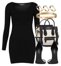 """""""Style #3446"""" by vany-alvarado ❤ liked on Polyvore featuring Topshop, ASOS, CÉLINE and Yves Saint Laurent"""