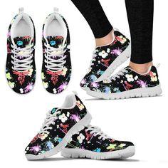 Veterinary Pattern Black Women's Sneakers