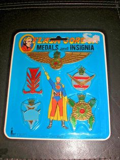 Vintage 1978, Flash Gordon Medals, Five & Dime Store Toy Pack  #Larami
