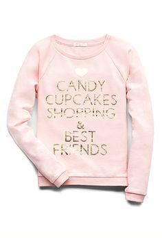 Cupcakes & Shopping Sweatshirt (Kids) | FOREVER21