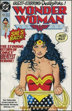 Wonder Woman #63 cover by Brian Bolland.