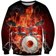 3D All Over Print Drum Shirts HG - Sweatshirt / 5XL