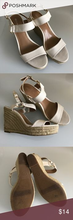 Merona wedges Never worn outside, excellent condition. Cute spring staple. Merona Shoes Wedges