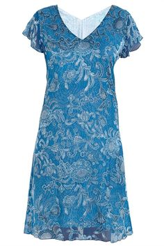 A La Mer Print Layered Burnout Dress at Westfield Geelong Blue Illusion $109.95 Ground Floor