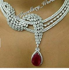 Ruby and Diamond Necklace*