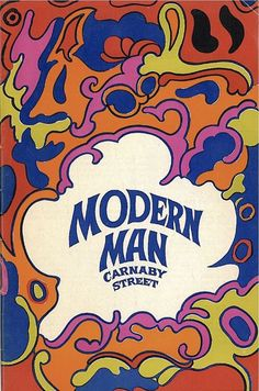 Psychedelic cover art for 'Modern Man Carnaby Street' mail order catalogue…