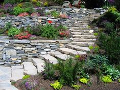 There are lots of affordable backyard landscaping ideas you can look into. For a backyard landscape upgrade, you don't need to spend so much cash to get an outdoor look that is easy and affordable. Cheap Landscaping Ideas, Landscaping Supplies, Landscaping With Rocks, Terraced Landscaping, Front Yard Landscaping, Terraced Garden, Garden Path, Garden Bed, Garden Stones