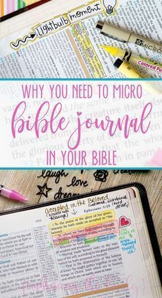 Record your Victories with the Lord with small-scale Bible Journaling! Why You Need to Micro Bible Journal Your Bible with Embracing the Lovely. Bible Journaling For Beginners, Bible Study Tips, Bible Study Journal, Scripture Study, Scripture Journal, Scripture Lettering, Devotional Journal, Prayer Journals, Journal Art