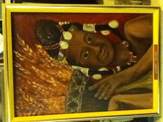 Harvest maiden painted in 1980
