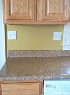 Countertop Cover Options : ... CRAFT AND REPEAT! She used contact paper to cover countertops! Cool