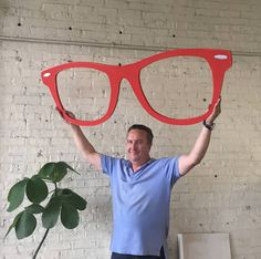 All styles are available for these Biggies, 60 inch eyeglasses. Makes the perfect focal point for your optical shop, over the receptionist desk or window decor. One side color finishing our standard. Two Sided Color Finishing Option: Two sided color finishing is also an option for all