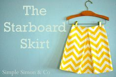 Simple Simon and Company: The Starboard Skirt Tutorial--You could just as easily make one of these for yourself.