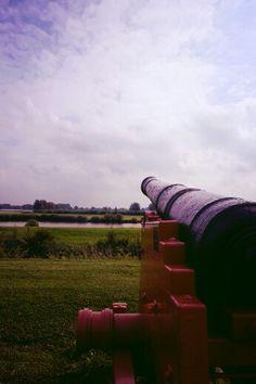 Mediaval cannon in Gorinchem.