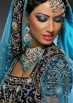 Best Ideas For Indian Bridal Wear Engagement Saris Indian Bridal Makeup, Asian Bridal, Exotic Women, Exotic Beauties, Lehenga Choli, Sari, Indian Dresses, Pakistani Dresses, Indian Beauty