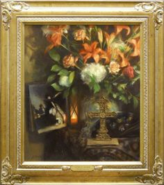 JoAnn Peralta  Lilies of Madrid   Oil - 24 by 20 Inches  $5,500 www.trailsidegalleries.com #paintings #still-life #floral