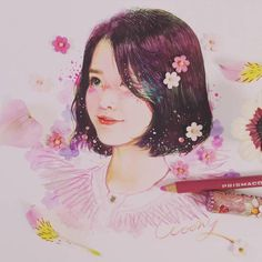 Fan art of Lee Ji-eun (이지은) also known mononymously as IU (아이유). || Credit goes to Woony.